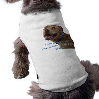 Pitbull shirt sleeveless dog shirt