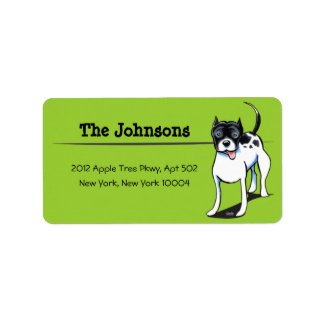 PitBull Staffordshire Terrier Custom Color Address Label