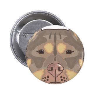 Pitbull vector 6 cm round badge