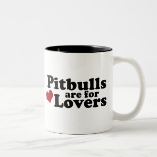 Pitbulls are for Lovers Two-Tone Coffee Mug