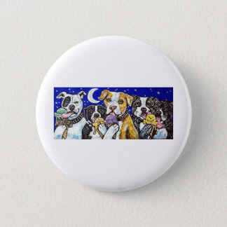pitbulls ice cream 6 cm round badge