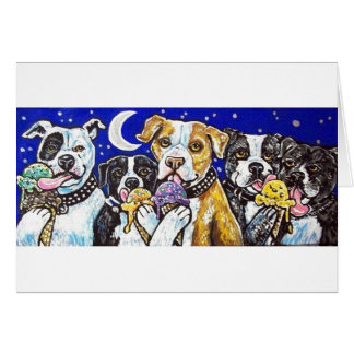 pitbulls ice cream card