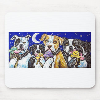 pitbulls ice cream mouse pad