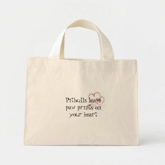 Pitbulls leave paw prints 1474 mini tote bag