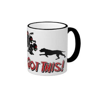 Pitbulls vs. Zombies Funny Logo Design Coffee Mug