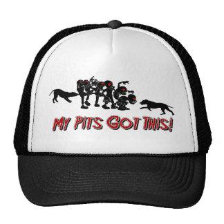 Pitbulls vs. Zombies Funny Logo Design Hat
