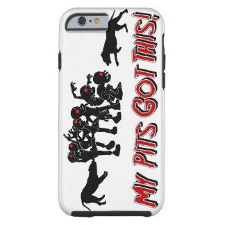 Pitbulls vs. Zombies Funny Logo Design I Phone Cas Tough iPhone 6 Case