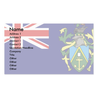 Pitcairn Islands Flag Pack Of Standard Business Cards