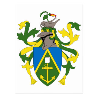 Pitcairn Islands Official Coat Of Arms Heraldry Postcard