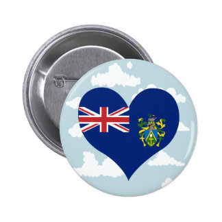 Pitcairnian Flag on a cloudy background 6 Cm Round Badge
