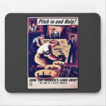 Pitch In The Help! Mouse Pad