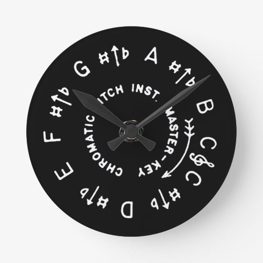 Pitch Pipe Round Clock