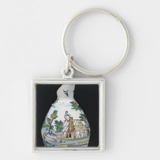 Pitcher depicting the construction of a keychain