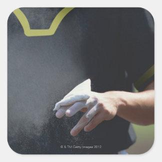 Pitcher Holding Chalk Pouch Square Sticker