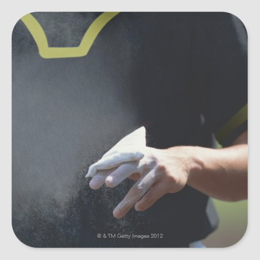 Pitcher Holding Chalk Pouch Stickers