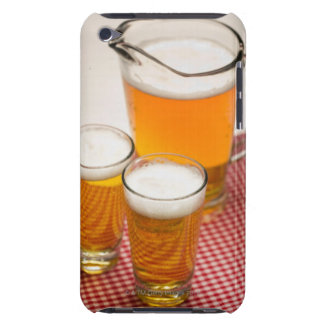 Pitcher of beer and two glasses filled with beer iPod Case-Mate case