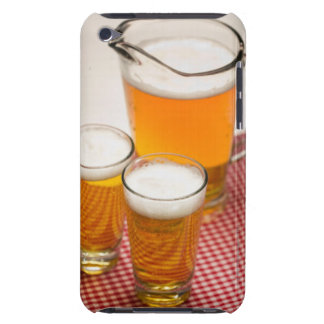 Pitcher of beer and two glasses filled with beer iPod Case-Mate cases