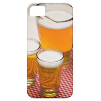 Pitcher of beer and two glasses filled with beer iPhone 5 cases