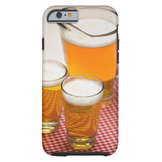 Pitcher of beer and two glasses filled with beer tough iPhone 6 case