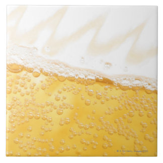 Pitcher of beer large square tile