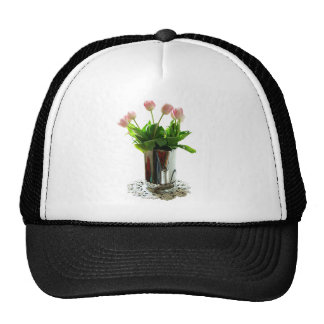 Pitcher of Pink Tulips Cap