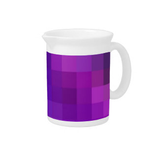 Pitcher or Jug, Blue, Purple Abstract Pattern