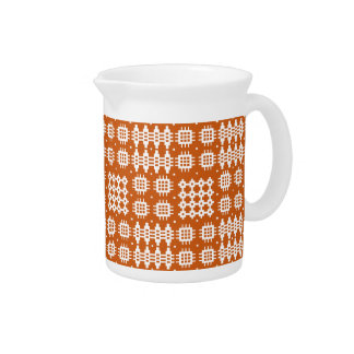 Pitcher or Jug: Welsh Tapestry Pattern, Brick Red