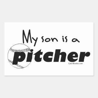 Pitcher Son Rectangular Stickers