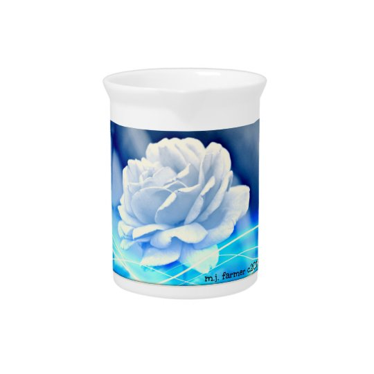 "Pitcher ""White Rose in Blue"""