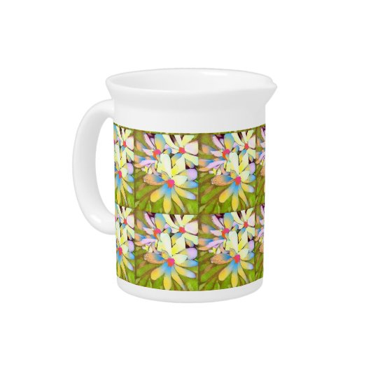 Pitcher with Magnolia Flower Art