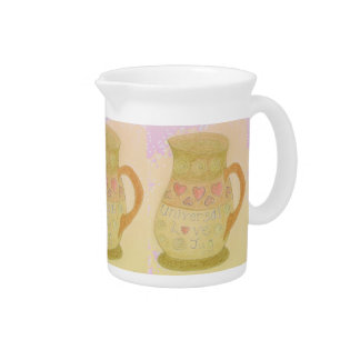Pitcher with Universal Love Jug Art