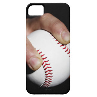 Pitchers hand gripping a baseball iPhone 5 cover