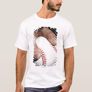 Pitchers hand gripping a baseball T-Shirt