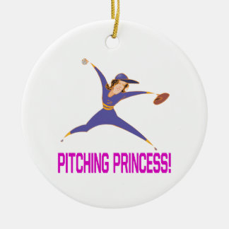 Pitching Princess Christmas Ornament