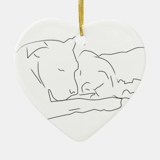 Pitifully in Love Christmas Ornament
