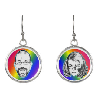 Pitney and Amelia Bitchen Rainbow Drop Earrings