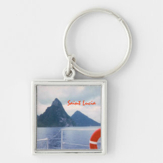 Pitons from the Sea Keychain