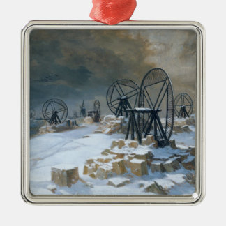 Pits at Gentilly in the Snow, 1879 Christmas Ornament