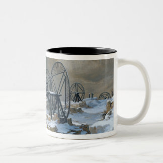 Pits at Gentilly in the Snow, 1879 Two-Tone Coffee Mug