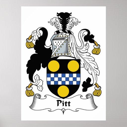 Pitt Family Crest Poster