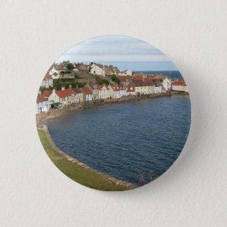 Pittenweem Harbour Scotland 6 Cm Round Badge