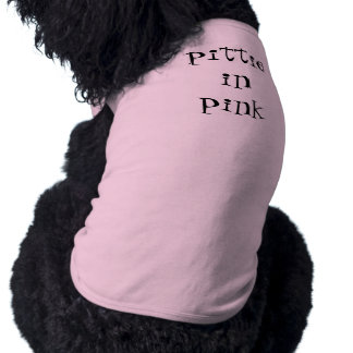 pittie in pink sleeveless dog shirt