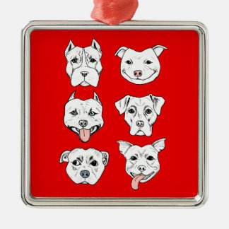 Pittie Pittie Please! Christmas Ornament