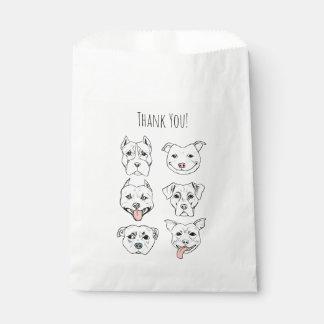 """Pittie Pittie Please!"" Dog Faces | Thank You Favour Bags"