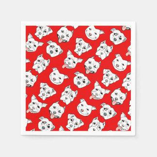 """Pittie Pittie Please!"" Dog Illustration Pattern Disposable Serviette"