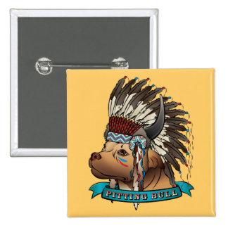 Pitting Bull 15 Cm Square Badge