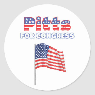 Pitts for Congress Patriotic American Flag Stickers