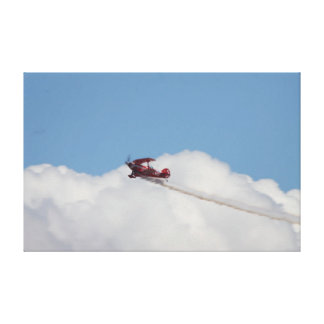 Pitts Special displaying over Cleethorpes Stretched Canvas Print
