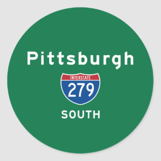 Pittsburgh 279 classic round sticker