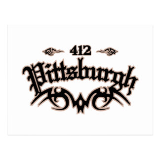 Pittsburgh 412 postcard